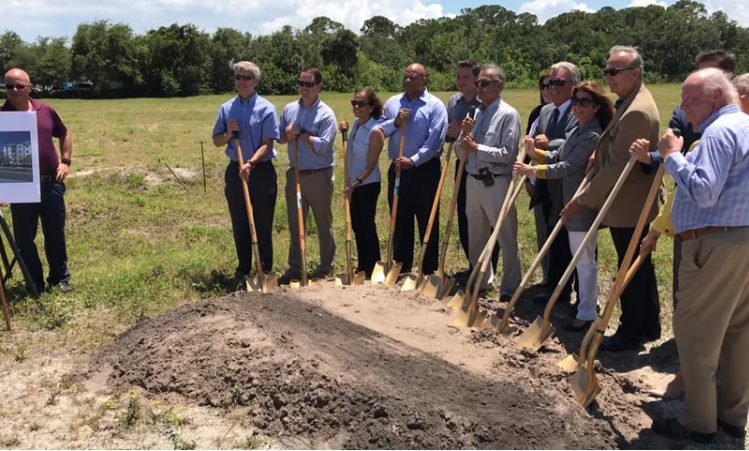 Groundbreaking event Enclave 3230 South Daytona