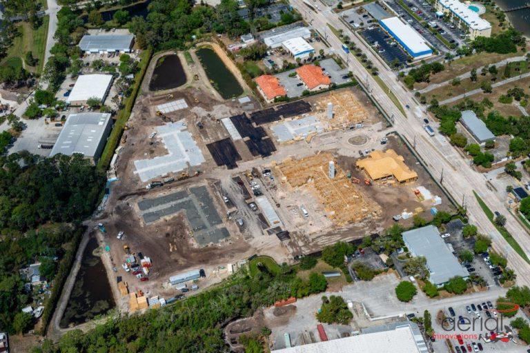 apartment site construction progress