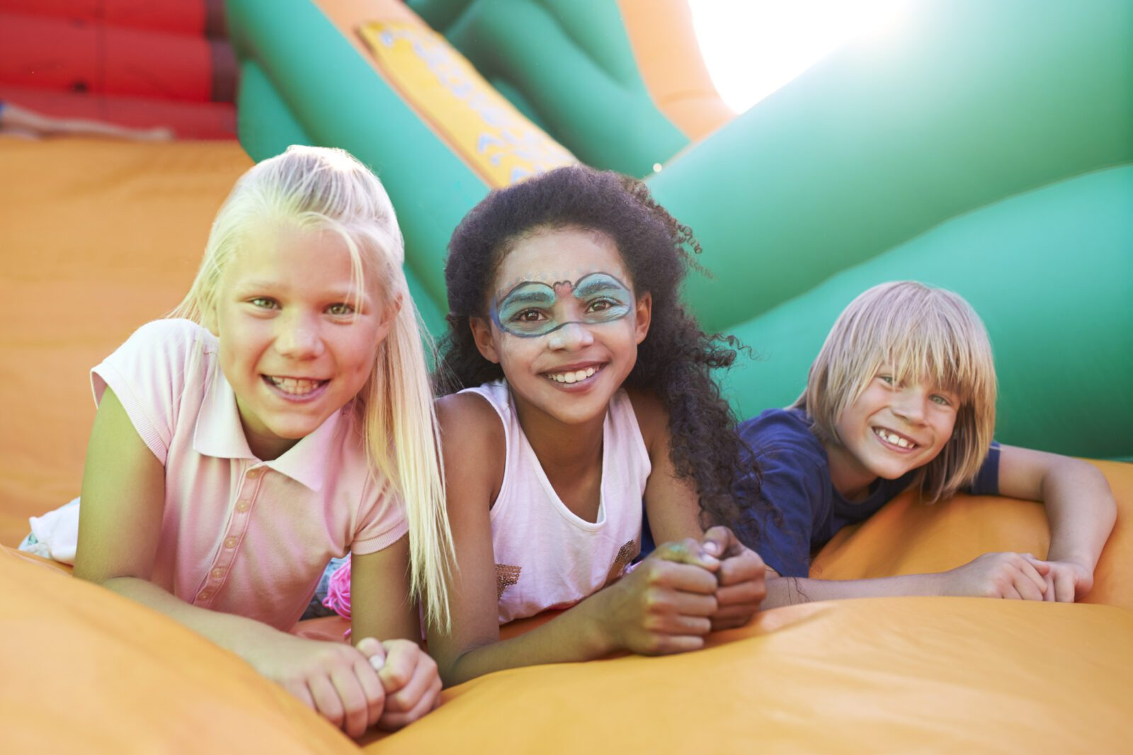kids on bounce house