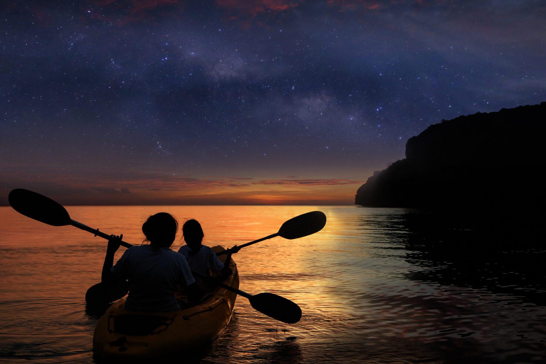 Kayaking at night