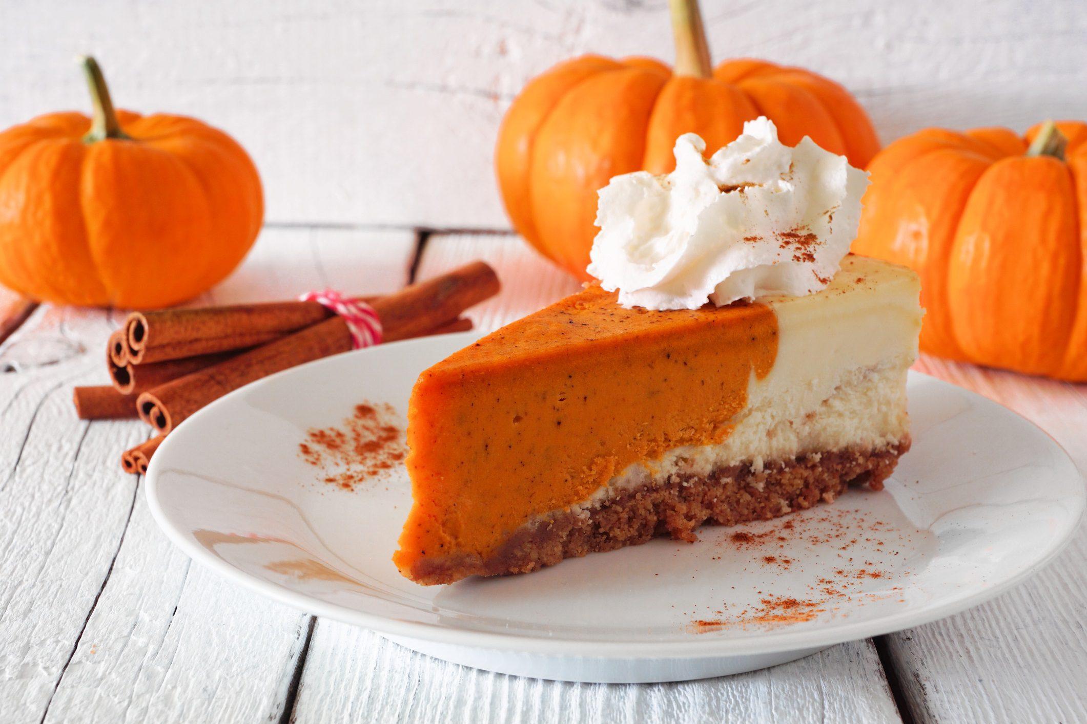 Pumpkin Cheesecake, Thanksgiving Day, Dinner Table, Fall, Pumpkins