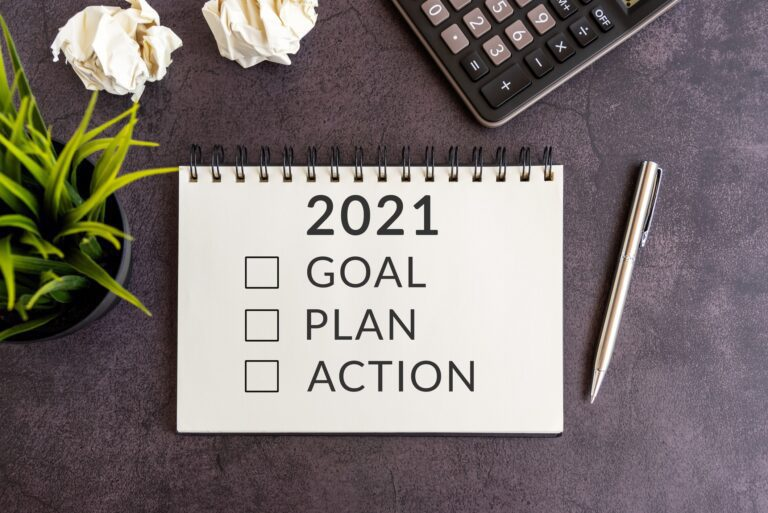 2021, Goal, Plan, Action, notepad, Plant, Pencil