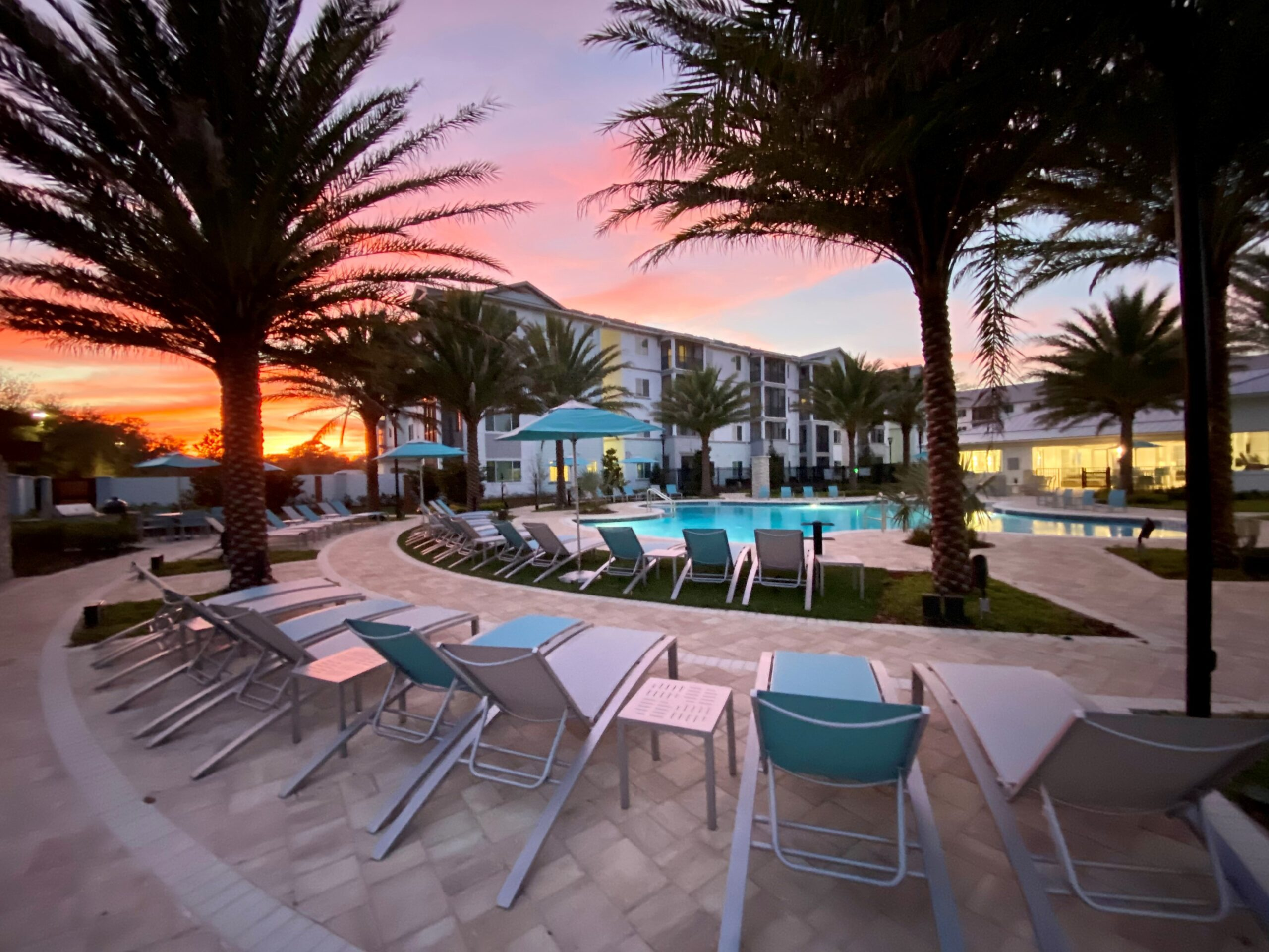 The Enclave at 3230 brand new apartments in South Daytona Florida pool area