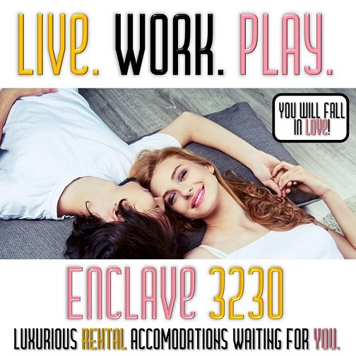 Couple in Love, Live, Work, Play, Enclave at 3230, Luxury Accommodations