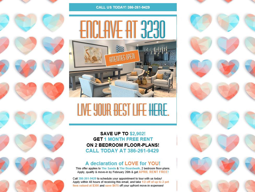 South Daytona Apartments, Apartment Specials, Enclave at 3230