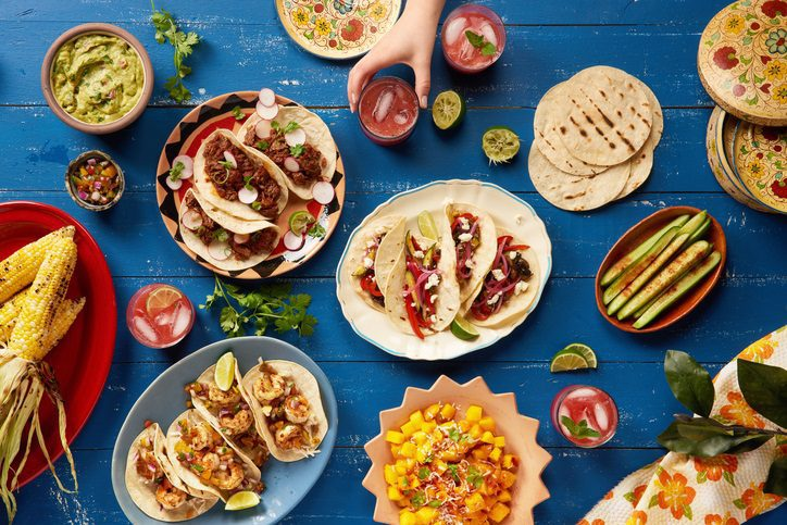 Cinco de mayo celebration at Enclave at 3230 with tacos, drinks and sides