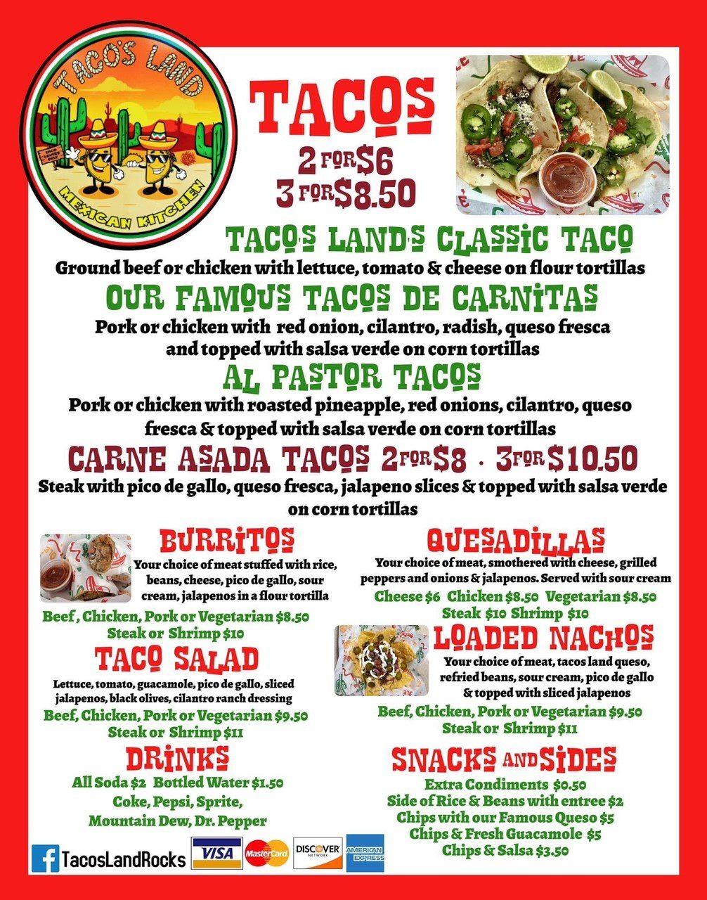 Tacos Land food truck at Enclave at 3230 near Daytona Beach Shores