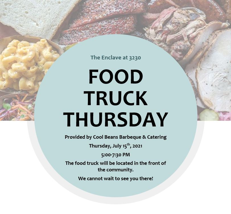 Food truck thursday at the Enclave at 3230 in Daytona Beach, Florida